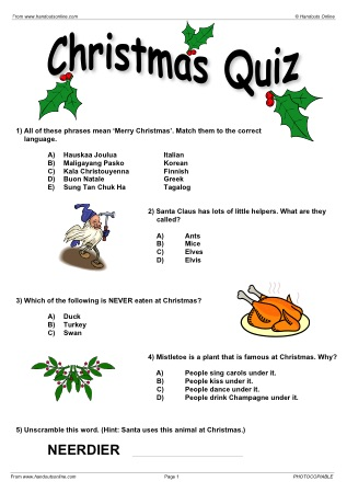 Christmas EFL ESL Worksheets, games, activities and lesson plans ...