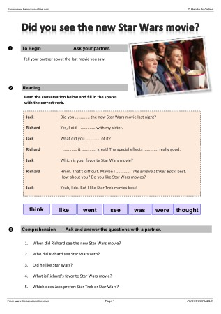 ESL Star Wars Worksheet