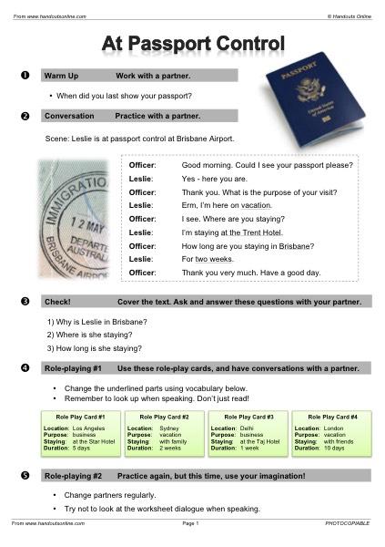 EFL | TEFL | ESL worksheets, handouts, lesson plans and resources ...