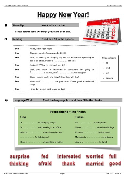 EFL | TEFL | ESL worksheets, handouts, lesson plans and resources