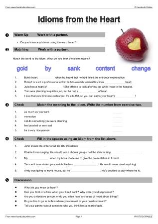 Idioms Efl Esl Search Worksheet Results