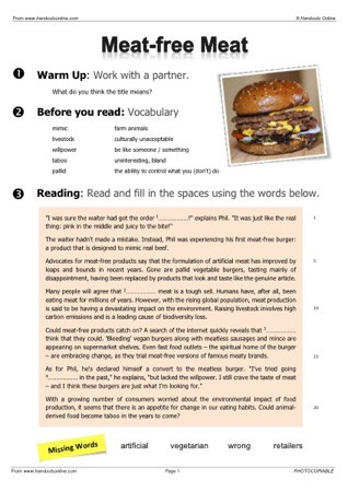 Advanced Level ESL EFL Worksheets, activities and lesson