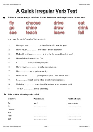 EFL ESL Past Simple / Continuous English Worksheets ...