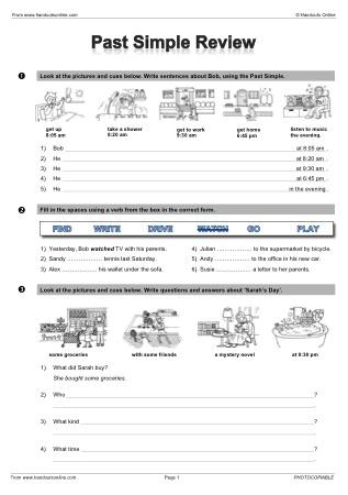 Past Simple Efl Esl Search Worksheet Results