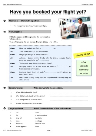 Handouts Online: English Worksheets, activities and lesson plans for ...